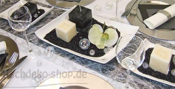 Tischdekoration In Weiss Rot Schwarz Tischdeko Shop