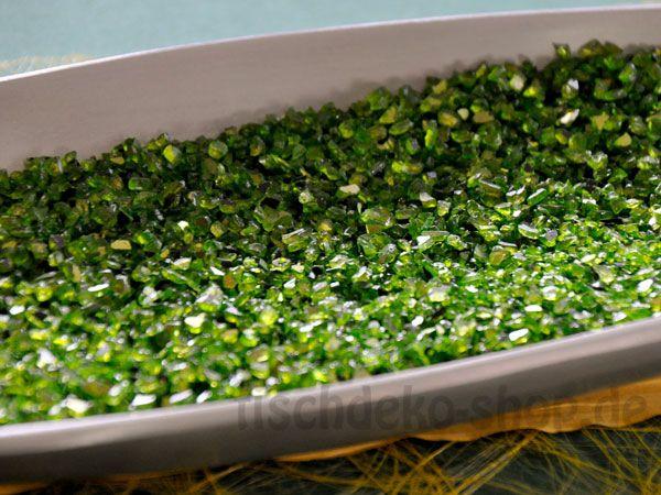 Spiegelgranulat in Grün mit Glitzereffekt 1 Kg ca.700 ml