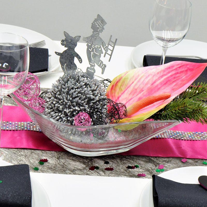 Tischdekoration In Schwarz Pink Kaufen Tischdeko Shop