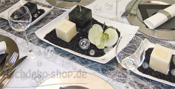 Tischdekoration In Schwarz Gold Silber Tischdeko Shop