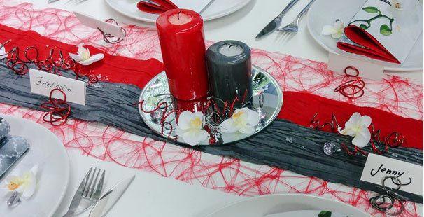 Tischdekoration In Rot Grau Kaufen Tischdeko Shop