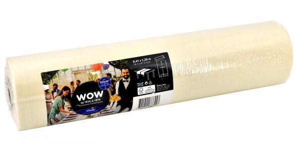 Tête-à-Tête Tischläufer Duni Evolin Wow Cream 0,40x24m bei Tischdeko-Shop.de