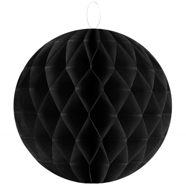 Wabenball Ø30cm schwarz bei Tischdeko-Shop.de