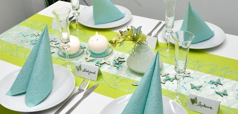 Tischdekoration In Der Farbe Grun Kaufen