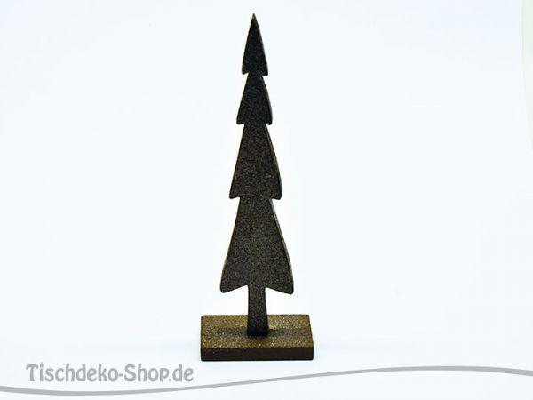 Baum Holz Glitter 25cm Dunkel-Olive
