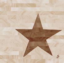 DUNI Dunilin Serviette Wood Star 40x40cm 50 Pack