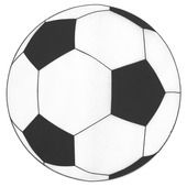 Platzteller/Tischset Fußball Vlies Ø34cm