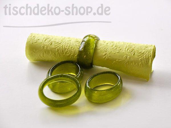 Serviettenringe Glas Lime 4er Set Ø 5cm