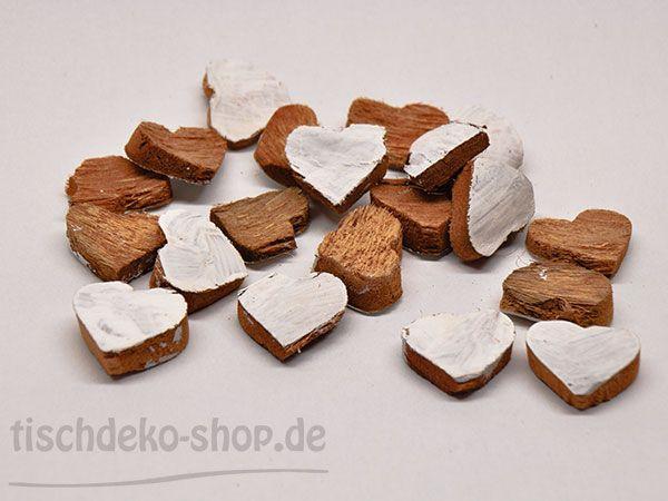 Kokos-Herzen Weiß Streudeko 3,5cm 25 Stück