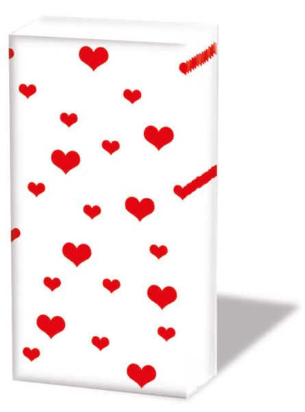 Taschentücher Lots of Hearts red 10er Pack