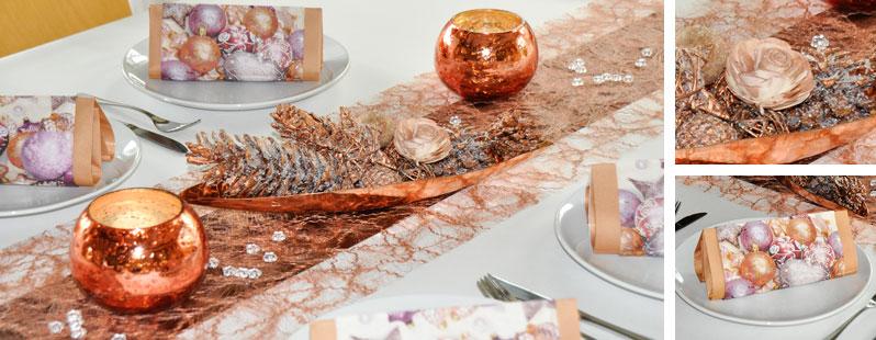 Kupfer kupfer online kaufen tischdeko for Duni weihnachtsservietten