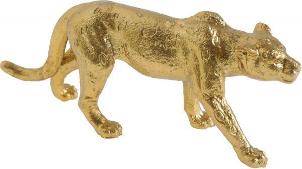 Leopard Dekofigur Gold 11cm bei Tischdeko-Shop.de