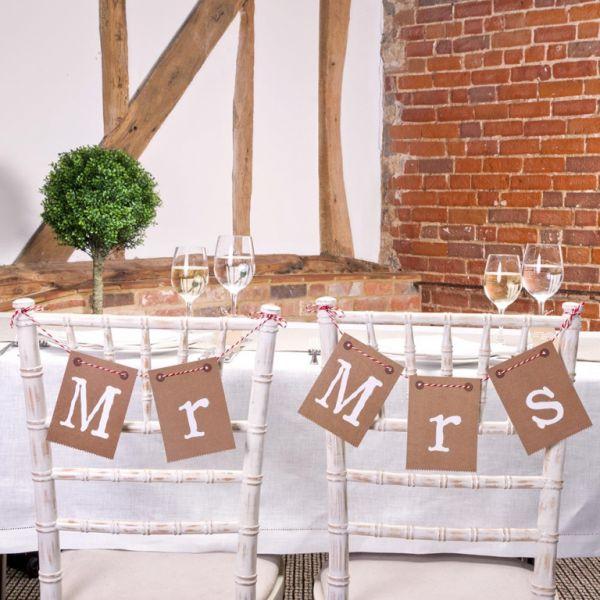 Girlande Hochzeit Mr. and Mrs. Just My Type