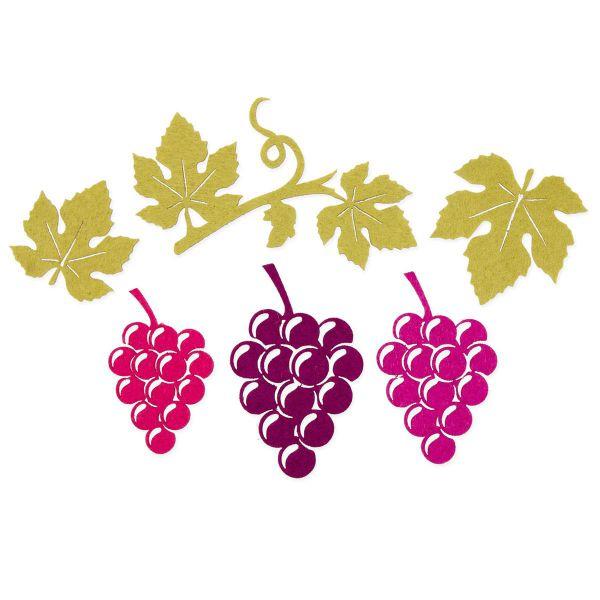 Filzsortiment  Weinreben Weinlaub 4.5-10 cm bei Tischdeko-Shop.de