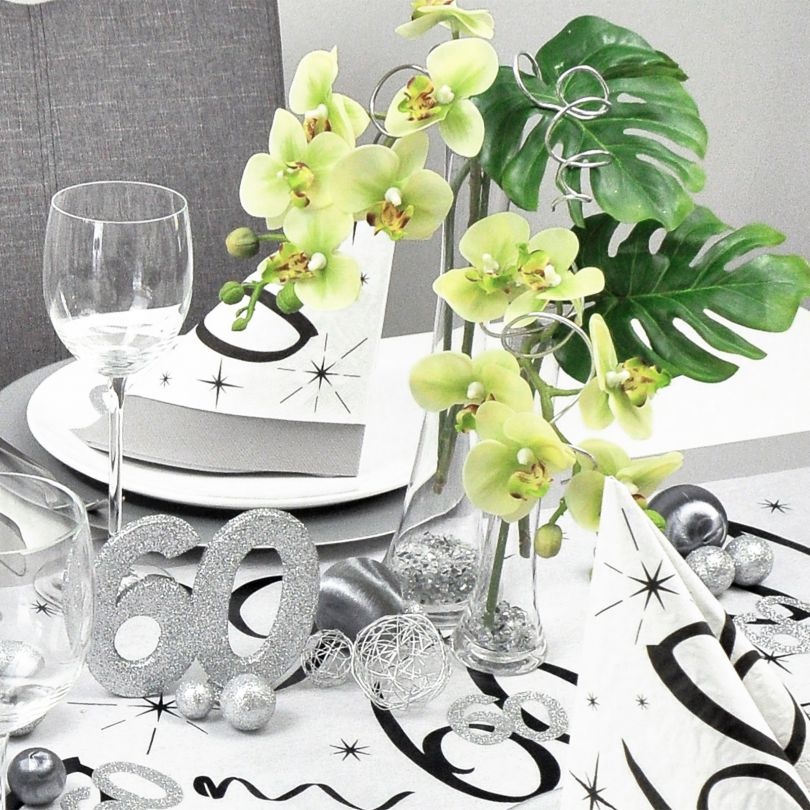 Tischdekoration Zum 60 Geburtstag Bei Tischdeko Shop De
