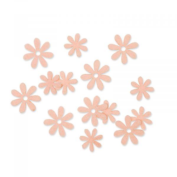 Filzsortiment Blüten Apricot 2,2 - 2,8cm 2 Motive 72er-Set bei Tischdeko-Shop.de