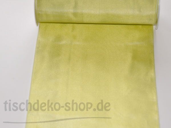 Deko-Taft-Band 20cmx5m Apfelgrün