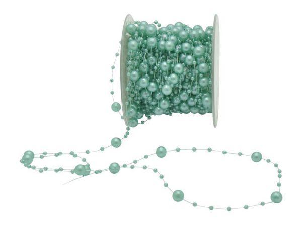 Perlen Band Türkis 6mm 15m Vorteilsrolle