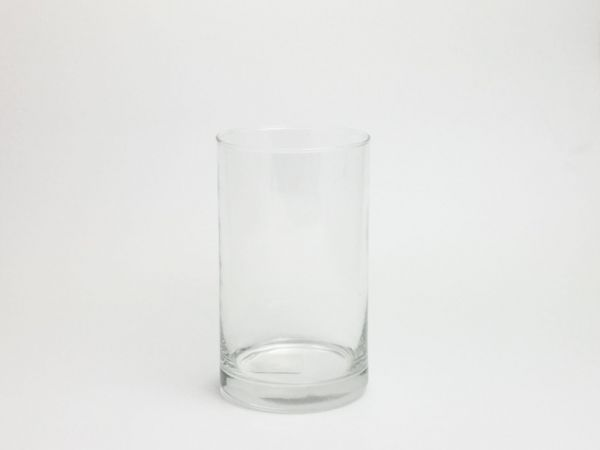 Vase Glas Zylinder D10cm H 15cm