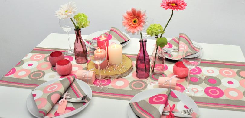 Tischdeko Shop De : tischdekoration zum geburtstag crazy dots in pink ~ Watch28wear.com Haus und Dekorationen