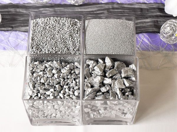 Deko-Sand, -Granulat, -Kies, -Steine Silber