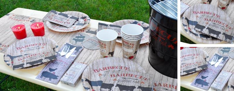 Bbq barbecue grillparty online kaufen tischdeko for Tischdeko shop