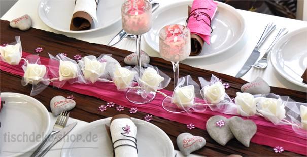 Braun / Pink online kaufen - Tischdeko-Shop.de