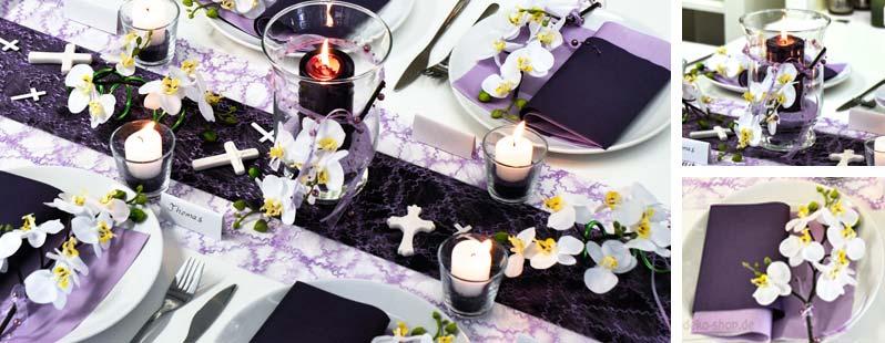 Aubergine flieder orchideen online kaufen tischdeko for Tischdeko aubergine