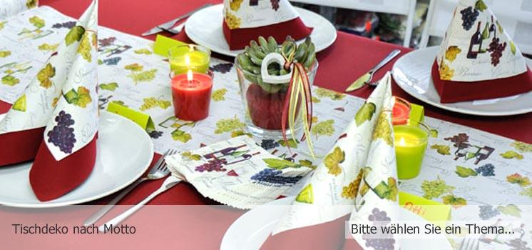Tischdeko nach Motto - Hier finden Sie Tischdeko-Vorschläge zu vielen Themen