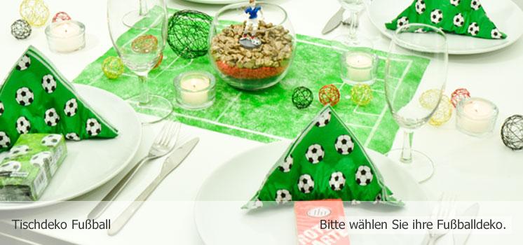 Tischdekoration Fussball