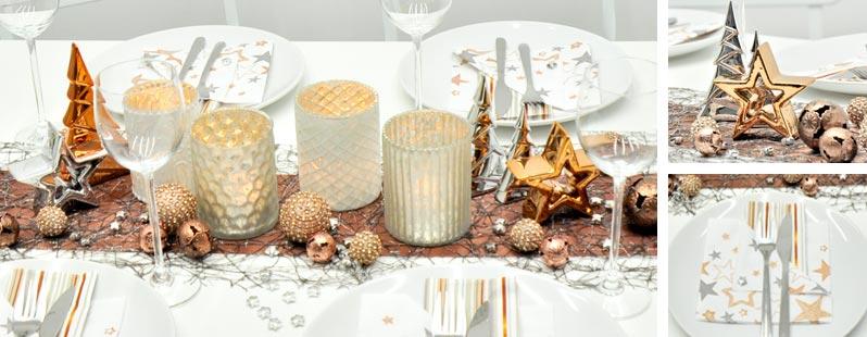 Tischdeko weihnachten kupfer for Tischdeko shop