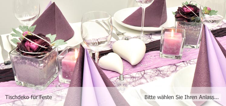 Tischdeko für Feste - Bitte wählen Sie Ihren Anlass