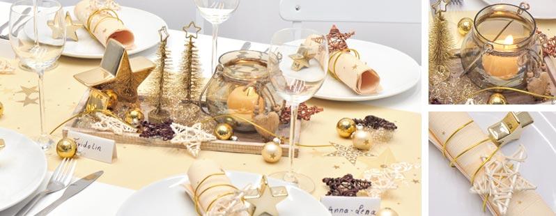 Walk of fame cream online kaufen tischdeko for Duni weihnachtsservietten