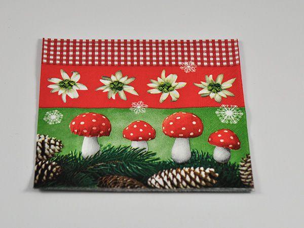 "Serviette ""Christmas nature"" 33x33cm 20er Pack"