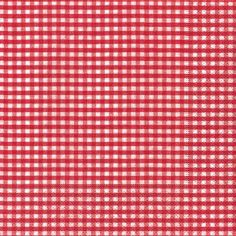 "Serviette ""Vichy red"" 33x33cm 20er Pack"