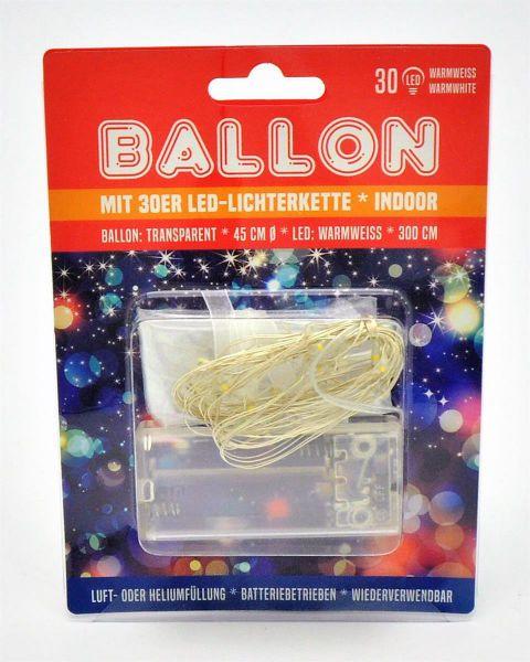 Ballon mit 30 LED Ø45cm bei Tischdeko-Shop.de