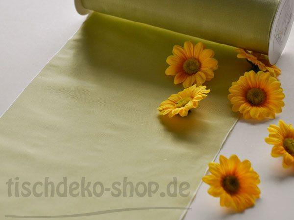 Deko-Taft-Band 20cmx5m Lindgrün