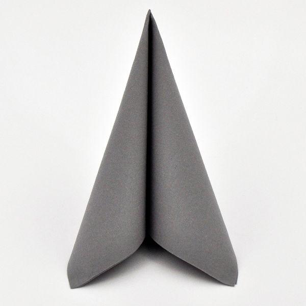 DUNI Dunilin-Serviette WOW 40x40cm Granite Grey 45er Pack bei Tischdeko-Shop.de