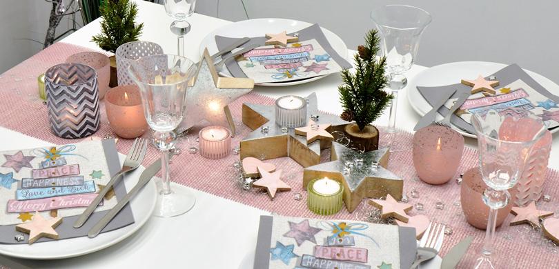 Tischdeko Shop De : weihnachtliche tischdekoration in vintage rosa und silber ~ Watch28wear.com Haus und Dekorationen