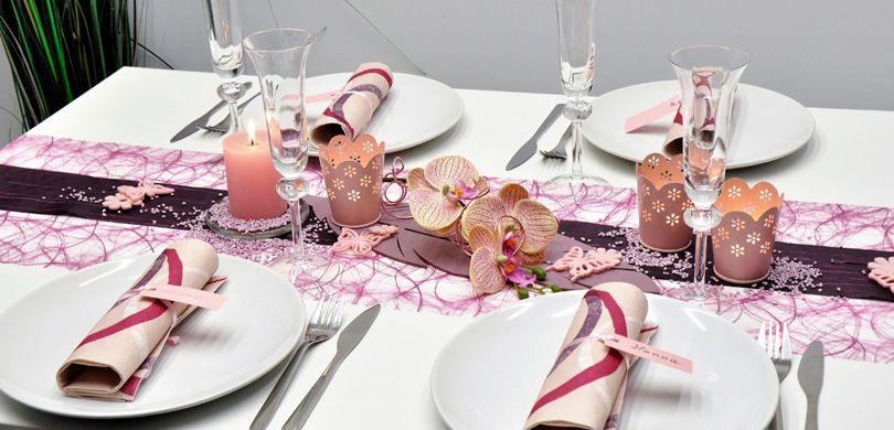 Tischdekoration In Erika Aubergine Kaufen Tischdeko Shop