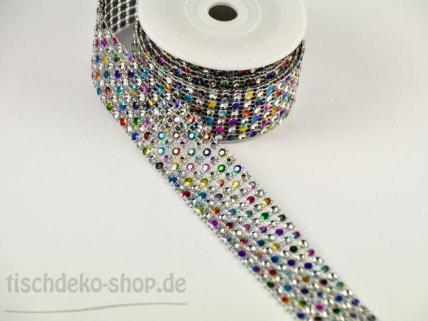 Band Diamant multicolour 2,50mx3cm bei Tischdeko-Shop.de