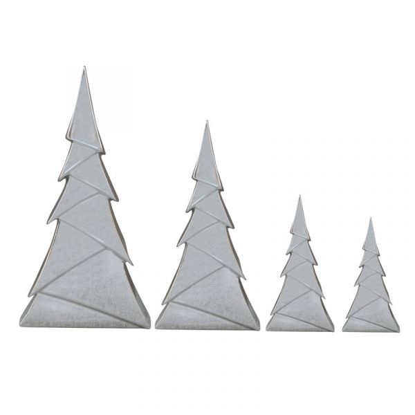 Tannenbaum Origami modernes Design Silber Keramik