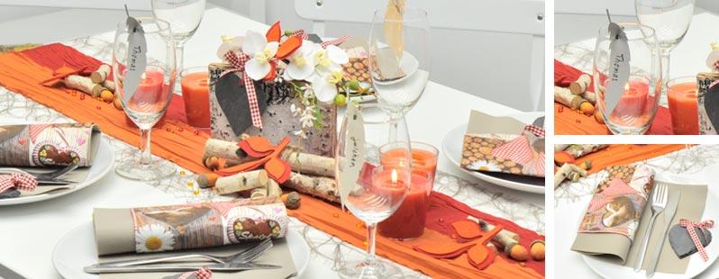 Herbstliches rot orange online kaufen tischdeko for Tischdeko shop
