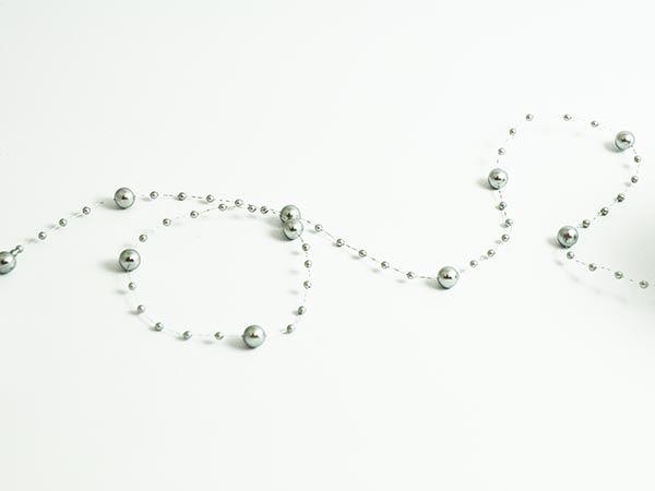 Perlen Band Silbergrau 6mm 15m-Vorteilsrolle