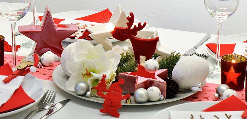 Weihnachtliche Tischdekoration Afterwork Party Mit Witziger