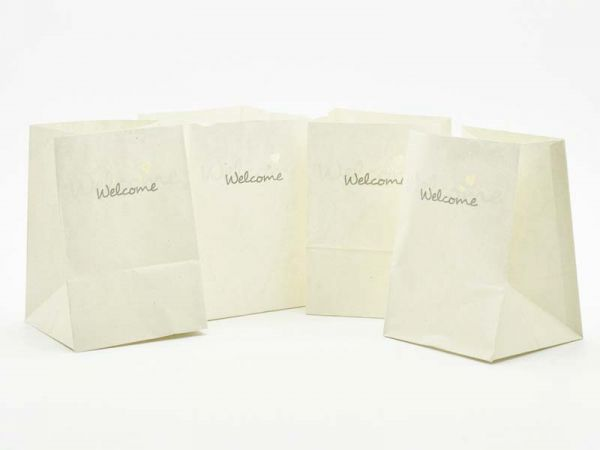 Lichtertüte Welcome 11x11x16 cm 4er Pack