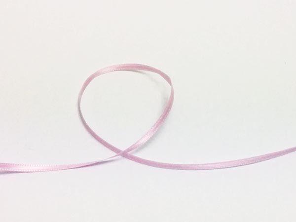 Dekoband Satin rosa 3mm 50m Rolle