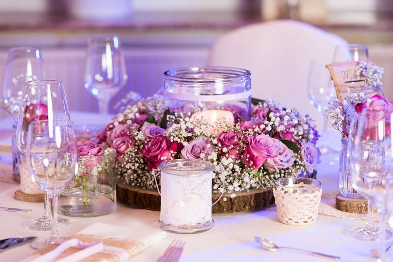 Hochzeitsdeko rosa tischdeko beliebtes hochzeitsfoto - Tischdeko gunstig ...