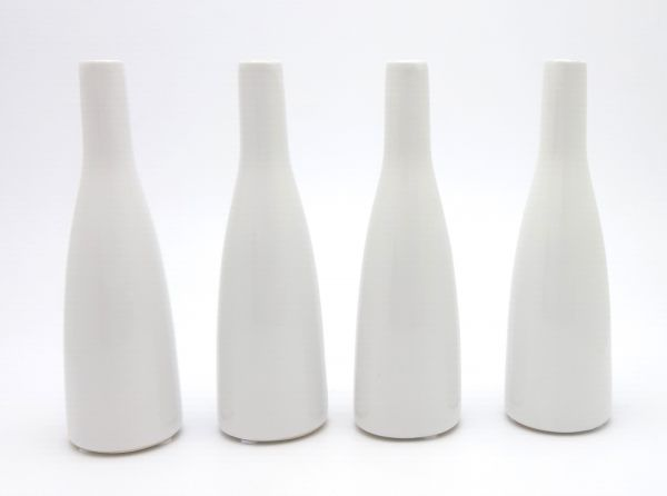 Vase Planico Weiß 4er Set H20cm bei Tischdeko-Shop.de