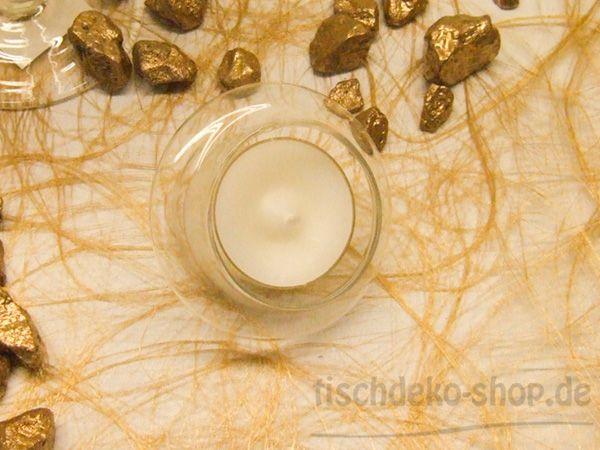 Schwimmender Teelichthalter aus Glas H4,5 cm Ø 6,5 cm